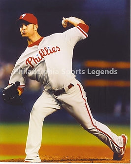 J A Happ Philadelphia Phillies 2008 World Series 8x10 photo