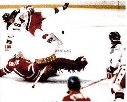 MARK JOHNSON USA MIRACLE ON ICE ACTION PHOTO USSR