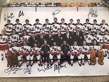 1980 OLYMPIC HOCKEY MIRACLE ON ICE 8 SIGNED 12x18 TEAM ERUZIONE VERCHOTA BAKER