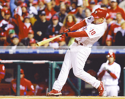 GEOFF JENKINS 2008 PHILLIES WORLD SERIES PINCH HIT DOUBLE