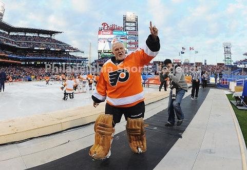 Bernie Parent Philadelphia Flyers 2011 Winter Classic Alumni farewell 8x10 photo