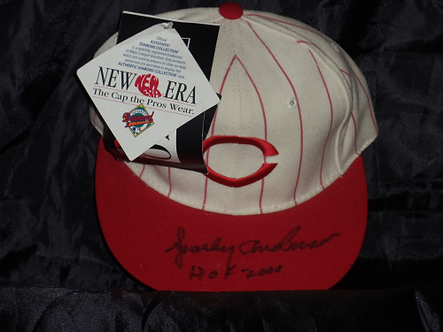 Sparky Anderson Cincinnati Reds autographed old style Reds hat