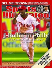 PHILLIES JIMMY ROLLINS 2008 WORLD SERIES 8X10 SPORTS ILLUSTRATED PHOTO #1
