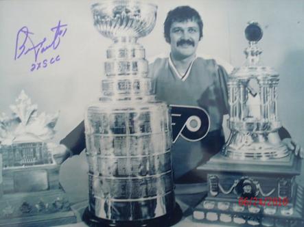 Bernie Parent Philadelphia Flyers signed 11x14 Conn Smythe Vesna Stanley Cup
