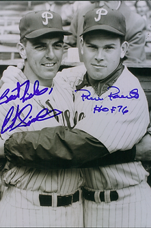 Robin Roberts Curt Simmons Philadlephia Phillies dual signed 11x14 photo