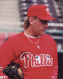 Curt Schilling Philadelphia Phillies autographed 8x10