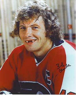Bob Clarke Philadelphia Flyers autographed classic toothless 8x10 photo
