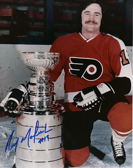 Rick Macleish (DEC) Philadelphia Flyers autographed Stanley Cup 8x10 photo