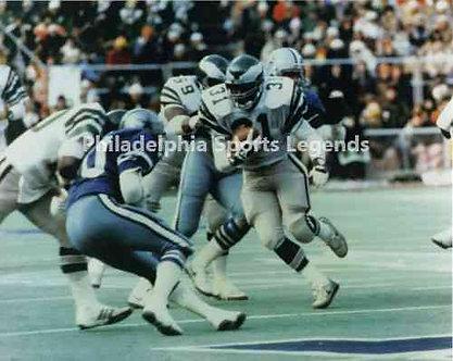 Wilbert Montgomery Philadelphia Eagles 1980 Touchdown Run vs Dallas Cowboys 8x10