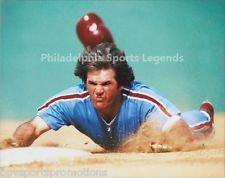 PETE ROSE PHILADELPHIA PHILLIES 1980 WORLD SERIES HEAD FIRST DIVE 8X10 #2