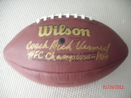 Dick Vermeil Philadelphia Eagles signed NFC Champion football