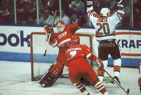 Dave Poulin Philadelphia Flyers All Star Goal vs Russians Vlad Tretiak 8x10.jpeg