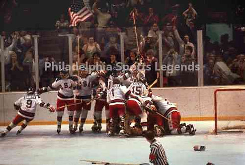 1980 USA Miracle On Ice Olympic Ice Hockey Celebration photo