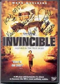 Vince Papale Philadelphia Eagles signed INVINCIBLE Disney DVD in case