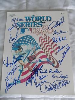 1980 Philadelphia Phillies 11x17 World Series logo 17 signatures