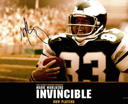 MARK WAHLBERG SIGNED INVINCIBLE MOVIE 8X10 EAGLES