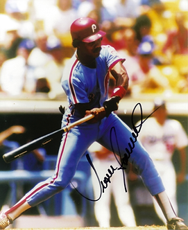 JUAN SAMUEL AUTOGRAPHED PHILADELPHIA PHILLIES 8X10 PHOTO DODGERS METS