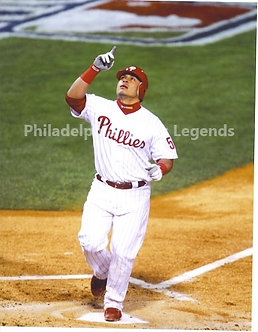"Carlos ""Chooch"" Ruiz 2008 Phillies World Series Home Run 8x10"