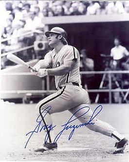 Greg Luzinski signed vintage Philadelphia Philles action photo #1