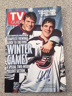 John LeClair USA Olympic Hockey 11x14 poster Joel Otto Philadelphia Flyers