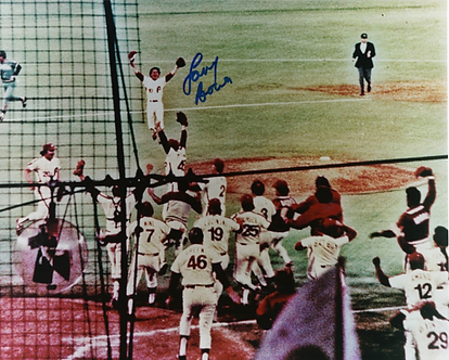 Larry Bowa autographed 1980 Phillies World Series Celebration 8x10