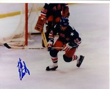 1980 OLYMPIC HOCKEY MIRACLE ON ICE SIGNED 8X10 STEVE CHRISTOFF #2