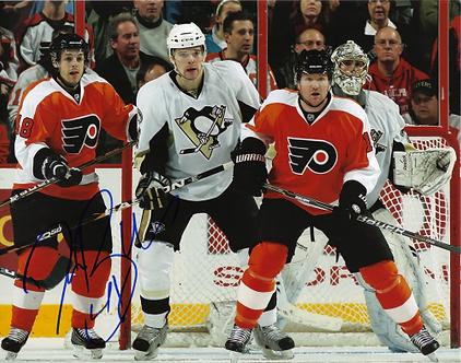 Danny Briere Philadelphia Flyers autographed 8x10 photo w/ Scott Hartnell