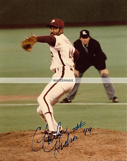 CHARLES HUDSON 1993 PHILLIES NL CHAMPS SIGNED 8X10 #1