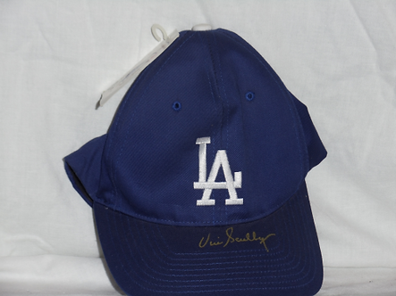 "Vin Scully ""Voice of the Dodgers"" signed brand new hat #3 Hall of Fame"