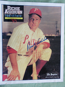 Rich Ashburn autographed Inquirer 11x14 poster Phillies Hall of Fame