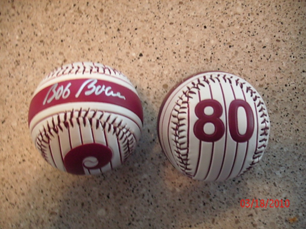 Bob Boone 1980 Phillies signed logo ball