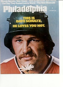 "Dave ""The Hammer"" Schultz Philadelphia Flyers Broad Street Bullies 8x10 photo"