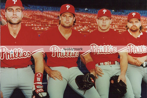 1993 PHILADELPHIA PHILLIES NL CHAMPS MACHO ROW DAULTON DYKSTRA HOLLINS KRUK