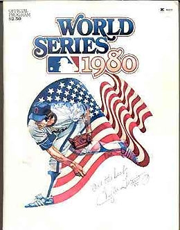Tug McGraw Phillies autographed 1980 World Series Program