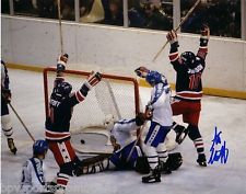 1980 OLYMPIC HOCKEY MIRACLE ON ICE SIGNED 8X10 STEVE CHRISTOFF L@@K
