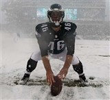 JOHN DORRENBAS PHILADELPHIA EAGLES SNOW PHOTO