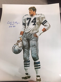 BOB LILLY DALLAS COWBOYS HALL OF FAME 16X20