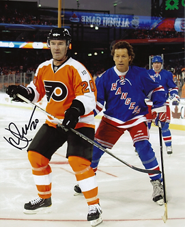 Dave Poulin signed Philadelphia Flyers Ron Duguay Rangers 2011 Winter Classic