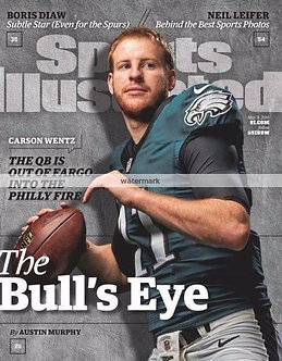 Carson Wentz Eagles Sports Illustrated cover rookie year
