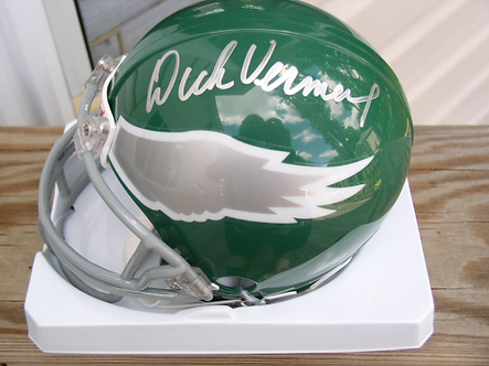 Coach Dick Vermeil Philadelphia Eagles signed retro 80's mini Helmet