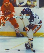 MIKE ERUZIONE UNSIGNED 1980 OLYMPIC MIRACLE ON ICE 8X10 ACTION W/USSR PHOTO