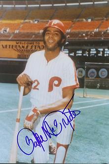 Bake McBride 1980 Philadelphia Phillies autographed 8x10 photo
