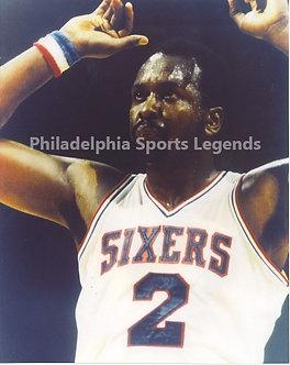 Moses Malone Philadelphia 76ers unsigned 8x10 photo