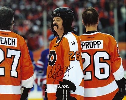 Orest Kindrachuck signed Philadelphia Flyers 2011 Winter Classic Alumni game