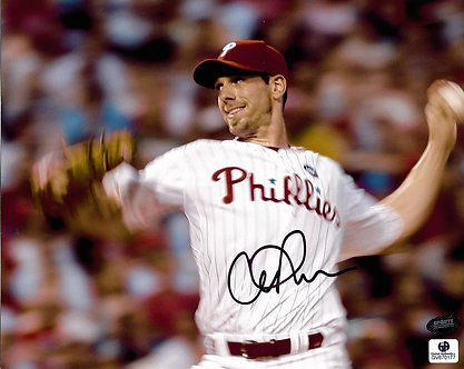 CLIFF LEE PHILADELPHIA PHILLIES SIGNED 8X10 GLOBAL