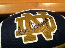 ARA PARSEGHIAN NOTRE DAME SIGNED MINI FOOTBALL 66 & 74 NATIONAL CHAMPS