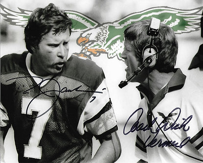 DICK VERMEIL RON JAWORSKI EAGLES SUPER BOWL XV DUAL SIGNED 8X10 PHOTO