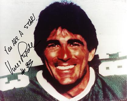 Vince Papale Philadelphia Eagles signed color 8x10 pose Mr Invincible