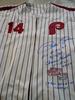 Pete Rose Philadelphia Phillies autographed jersey CHARLIE HUSTLE INSCRIPTION