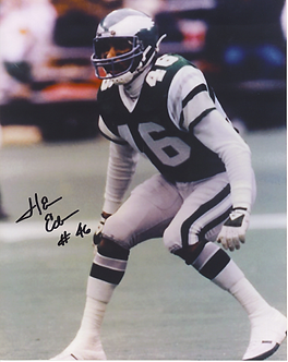 Herm Edwards Philadelphia Eagles ESPN autographed color 8x10 action photo